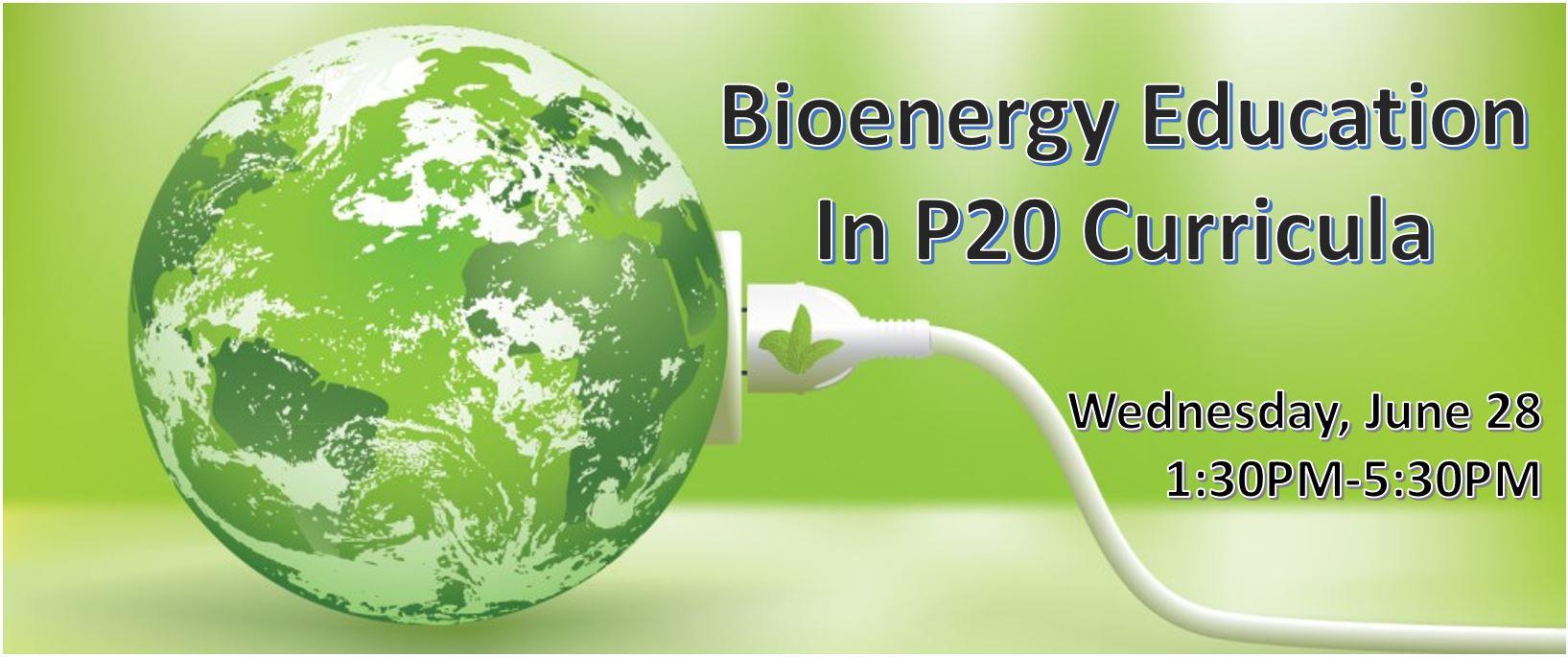 Bioenergy Education in P20 Curricula