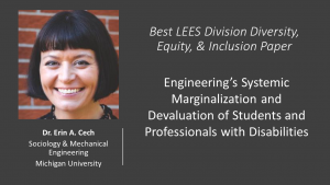 Erin Cech Best LEES Division Paper Diversity, Equity, and Inclusion 2021