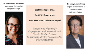 Jenn Stroud Rossmann and Mary A. Armstrong Best LEES, PIC, and Conference Paper