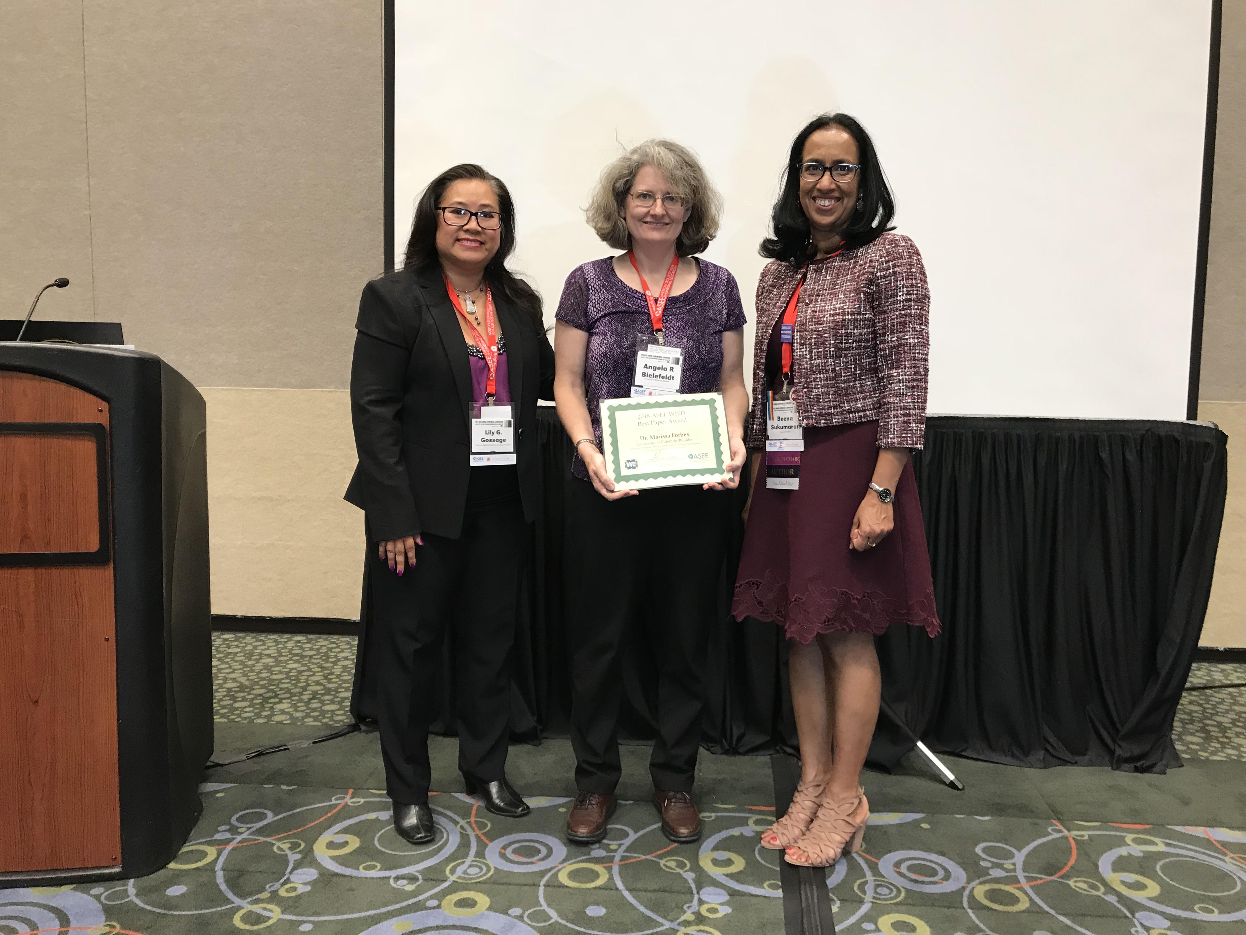 2018 WIED Best Paper Award